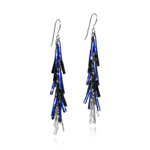 Blue Jay Feather Earrings by Decontie & Brown (Penobscot).
