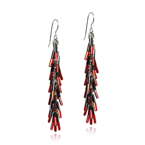 Cardinal Feather Earrings by Decontie & Brown (Penobscot).