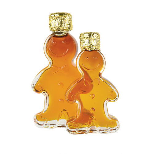 Gingerbread Man Maple Syrup by Passamaquoddy Maple (Passamaquoddy). 50mL & 100mL Size Bottles
