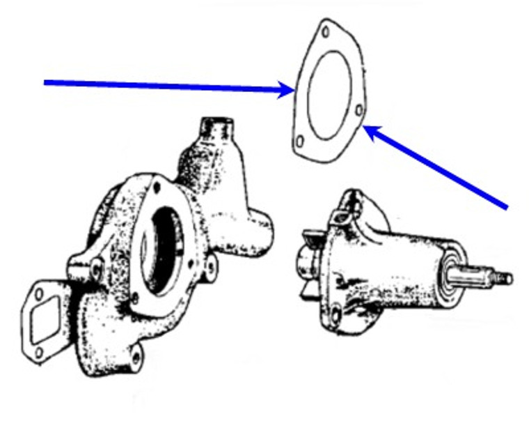 Water Pump to Housing Gasket TR3-4A,138587