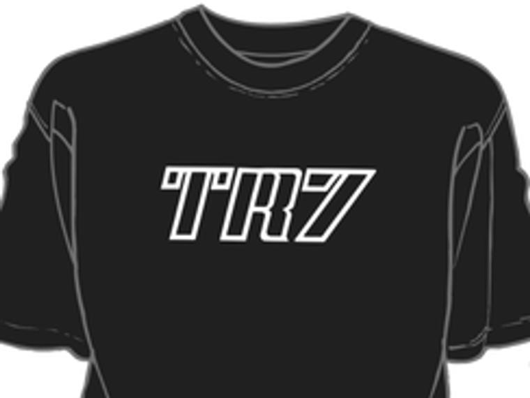 Black TR7 decal t shirt
