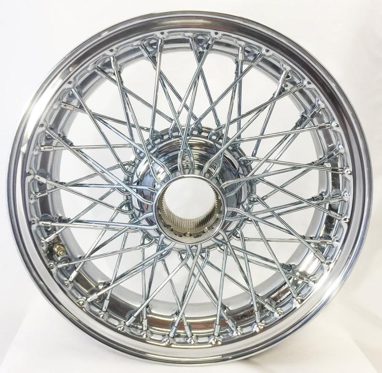 """Austin Healey / MG / Morgan / Triumph - 15""""x 4.5"""" 60 Spoke Chrome & TUBELESS (xw452)"""