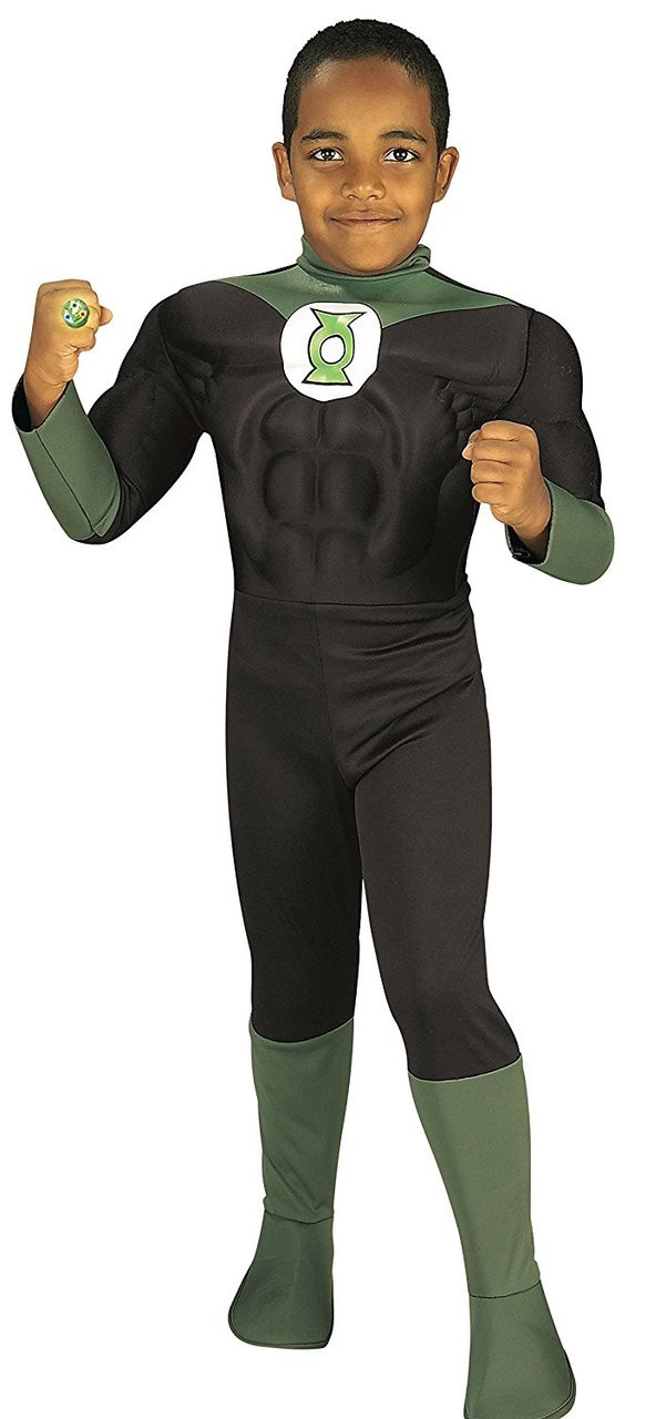 DC Comic/'s Green Lantern Deluxe Muscle Chest Adult Costume