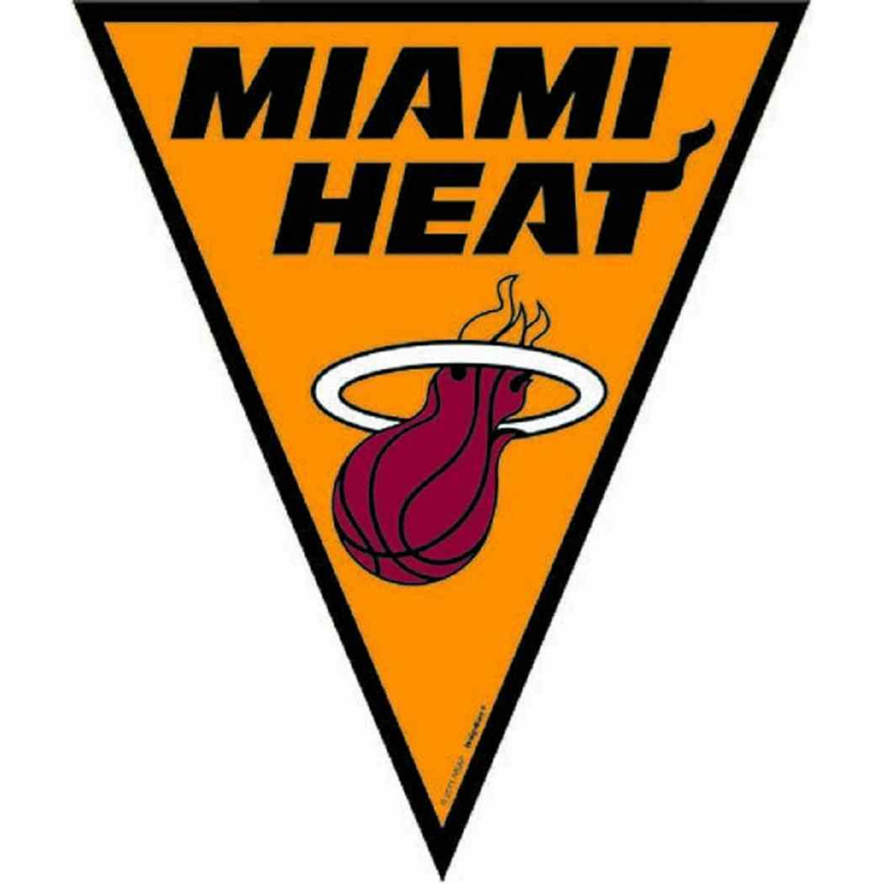 Miami Heat Nba Basketball Sports Party Decoration Pennant Flag Banner Parties Plus