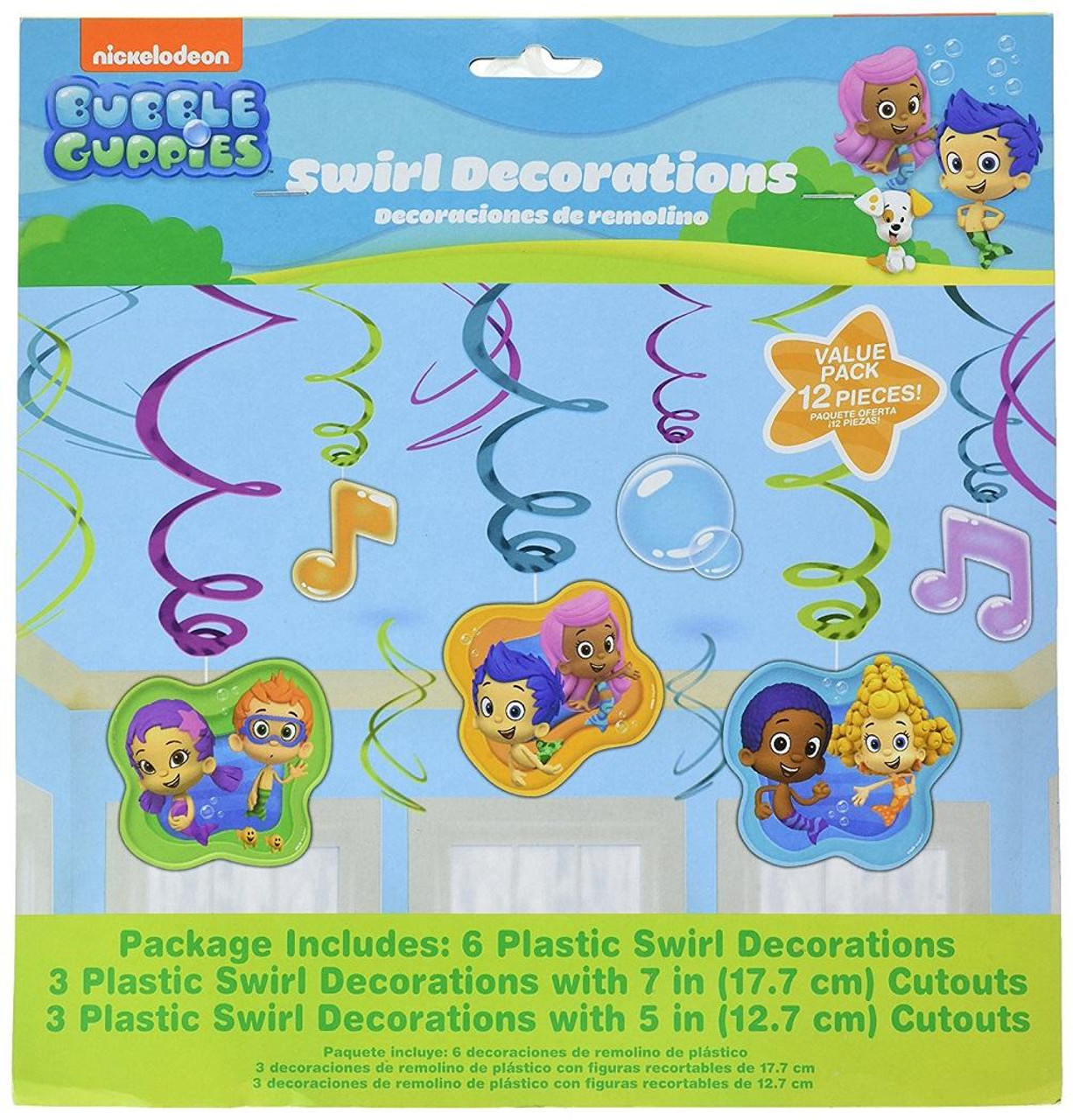 Bubble Guppies Birthday Party Hanging Swirl Decorations