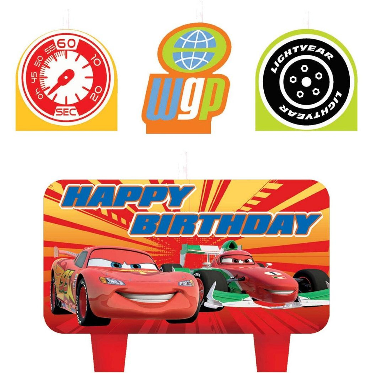 Cars 2 Movie Disney Birthday Party Decoration Molded Cake Candles