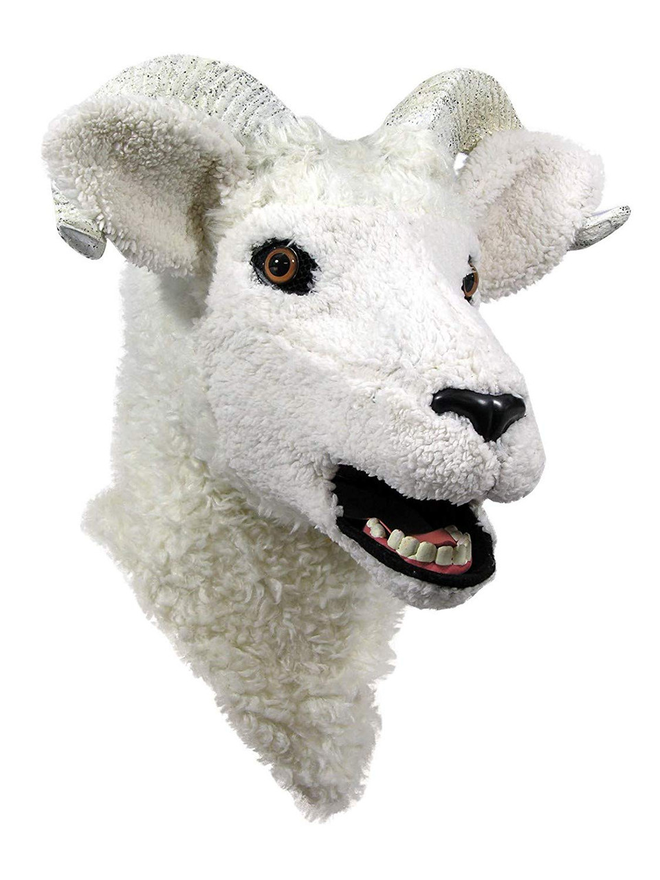 Ram Lamb Mask Moving Mouth Animal Fancy Dress Halloween Adult Costume Accessory