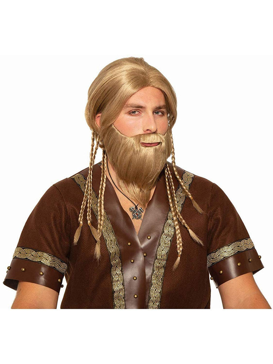 Viking Beard Adult Mens Brown Medieval Fancy Dress Costume Accessory