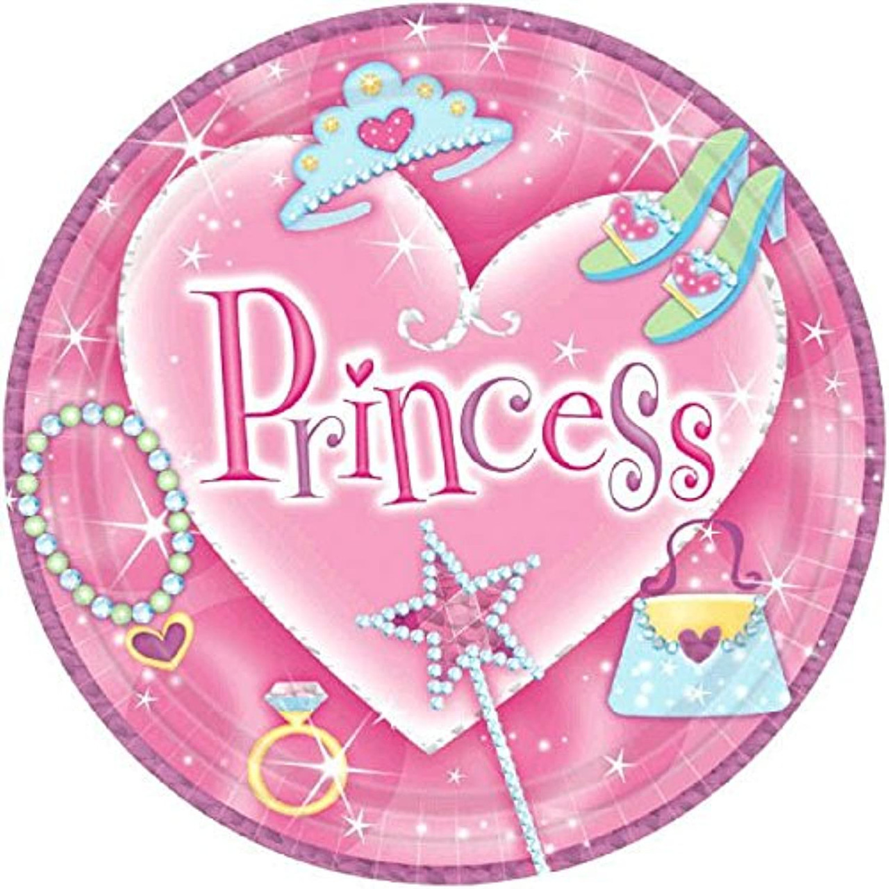 Sparkling Princess Pink Fancy Girls Kids Birthday Party Favor Paper Treat Cups