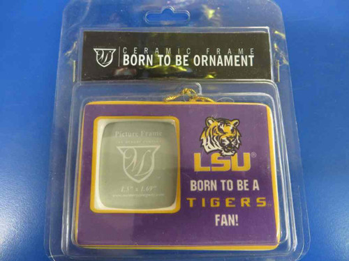 LSU Tigers NCAA Born to Be Ceramic Frame Ornament