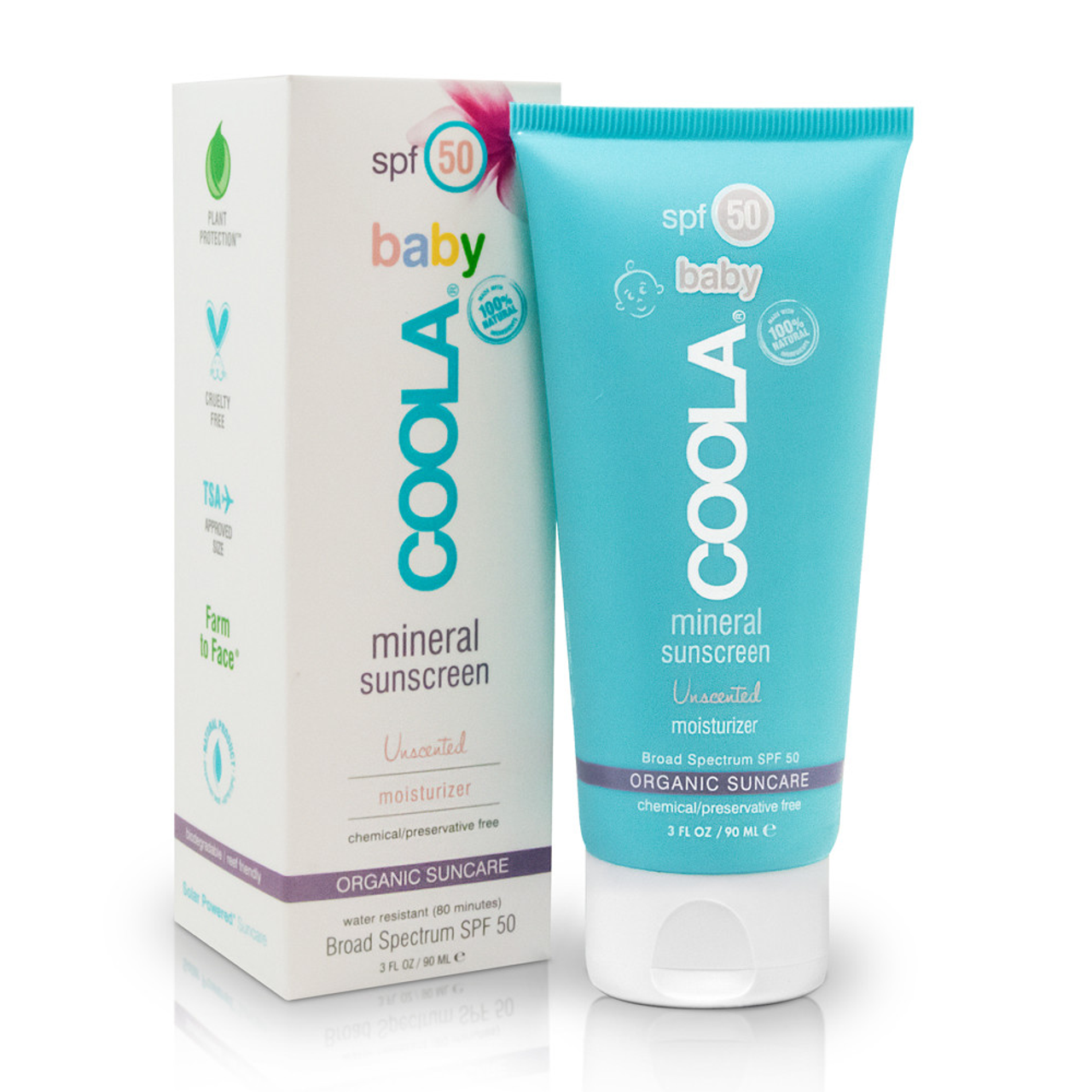 Coola Mineral Baby Organic SPF 50 Unscented