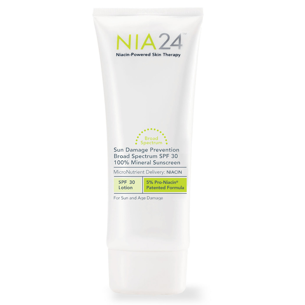 NIA24 Sun Damage Prevention Broad Spectrum SPF 30 100% Mineral Sunscreen SPF 30