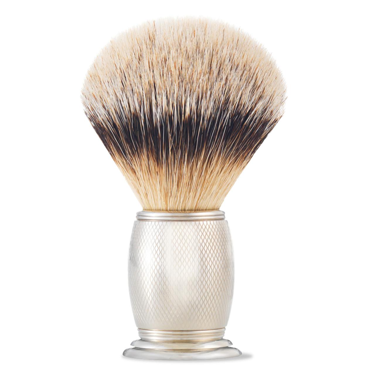 The Art of Shaving Brush Engraved Nickel S-Tip Brush BeautifiedYou.com