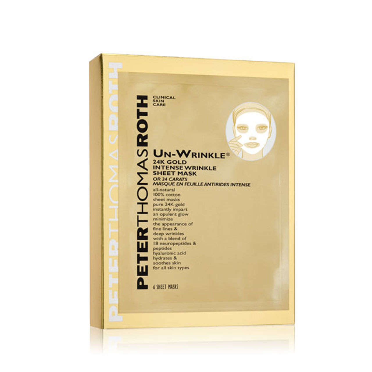 Peter Thomas Roth Un-Wrinkle® 24K Gold Intense Sheet Mask***DISCONTINUED***