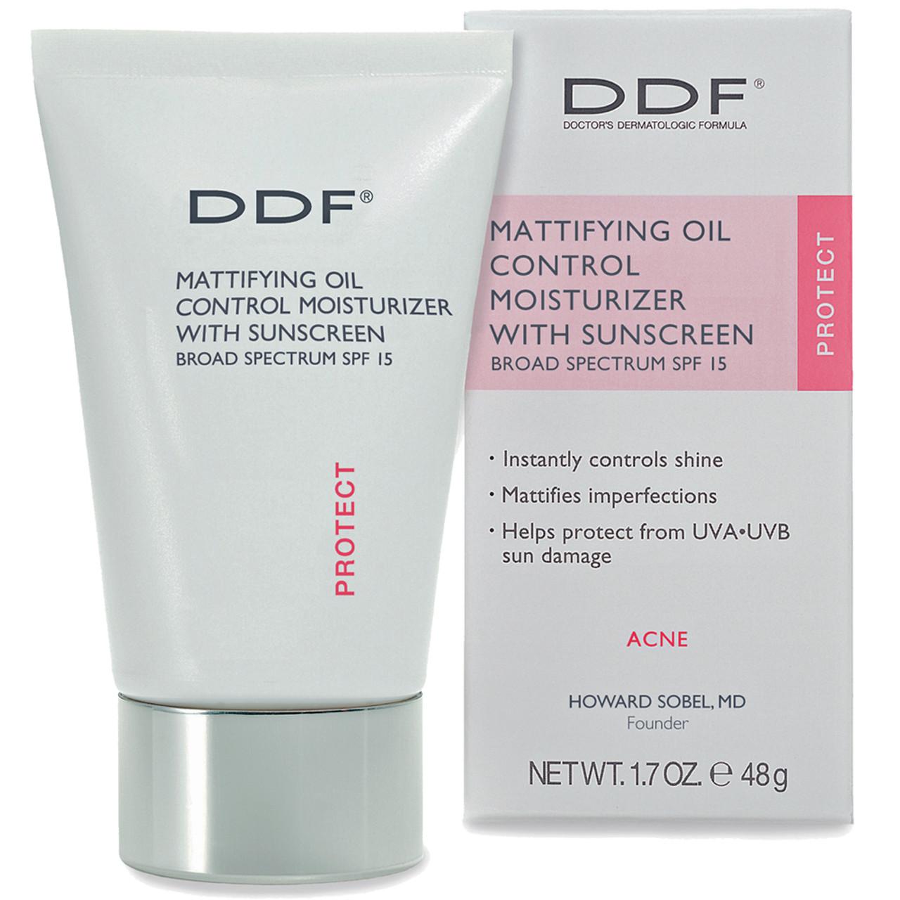DDF Mattifying Oil Control UV Moisturizer SPF 15 BeautifiedYou.com