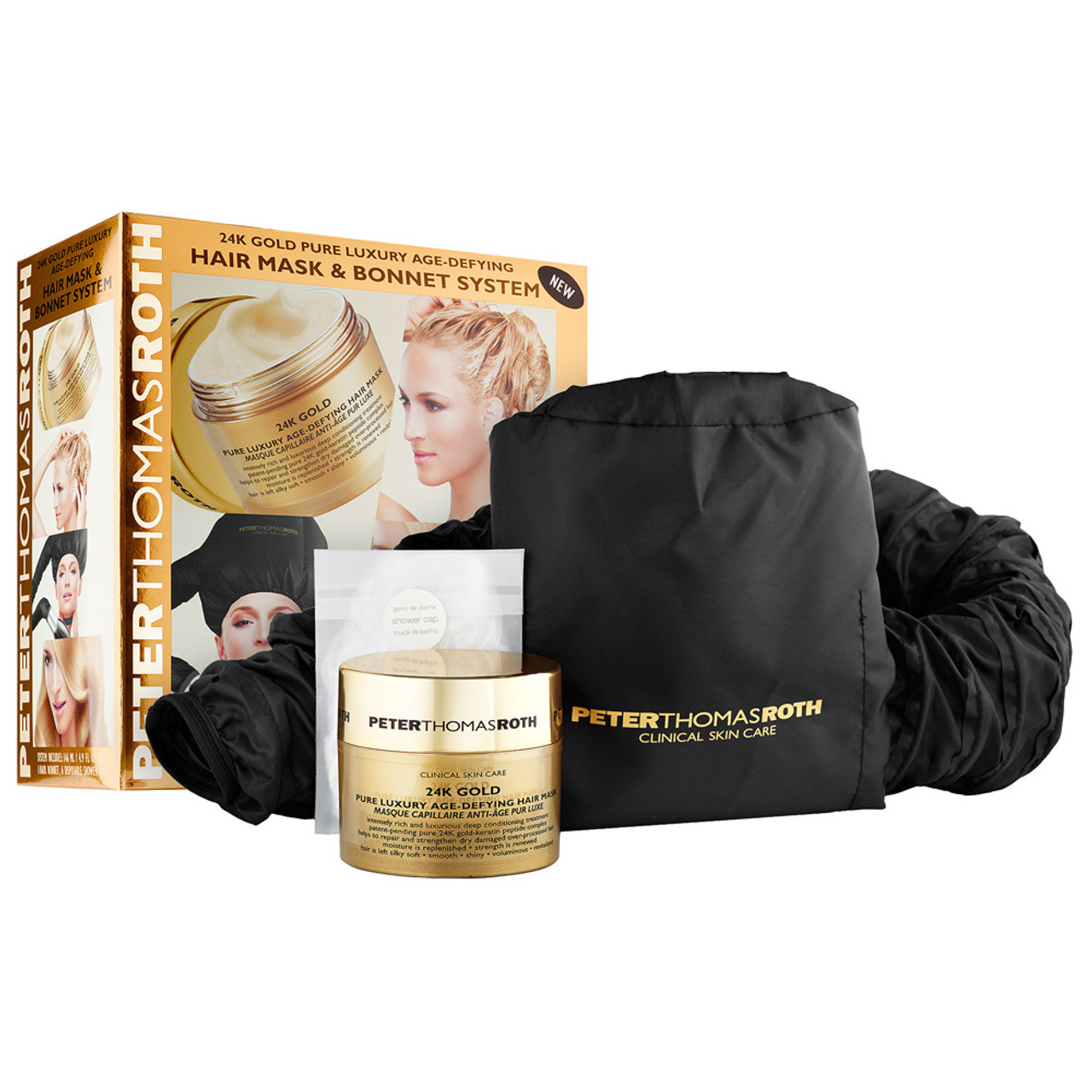 Peter Thomas Roth BONNET SYSTEM 24K GOLD PURE LUXURY AGE-DEFYING HAIR MASK
