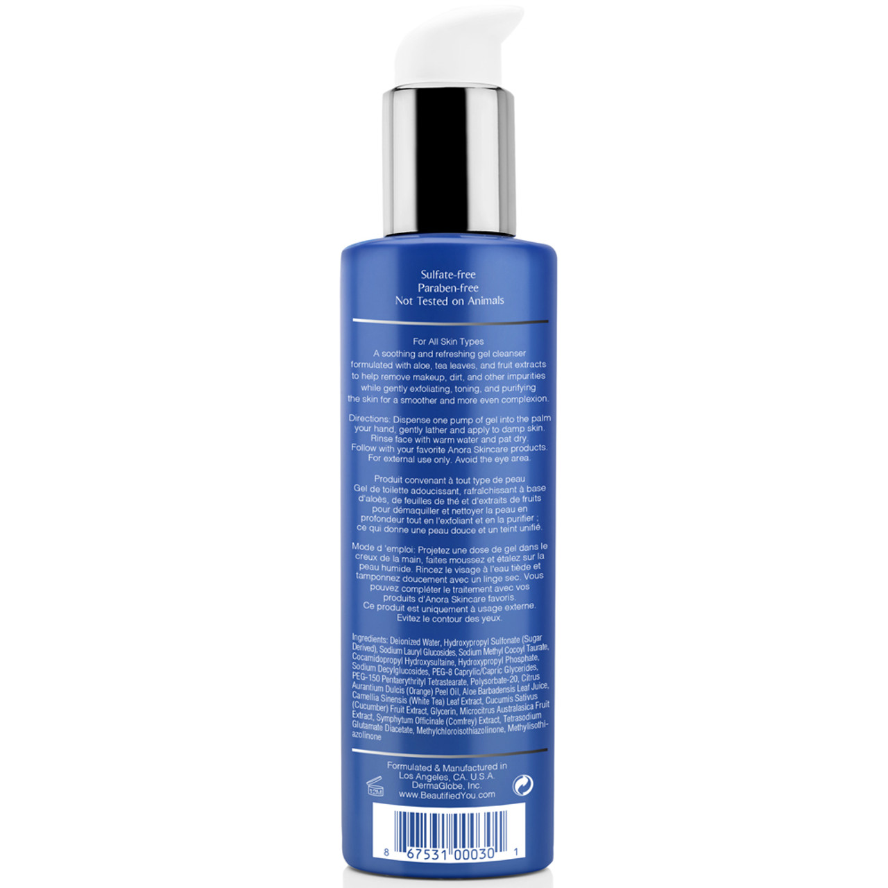 Anora Skincare Purifying Gel Cleanser - Front