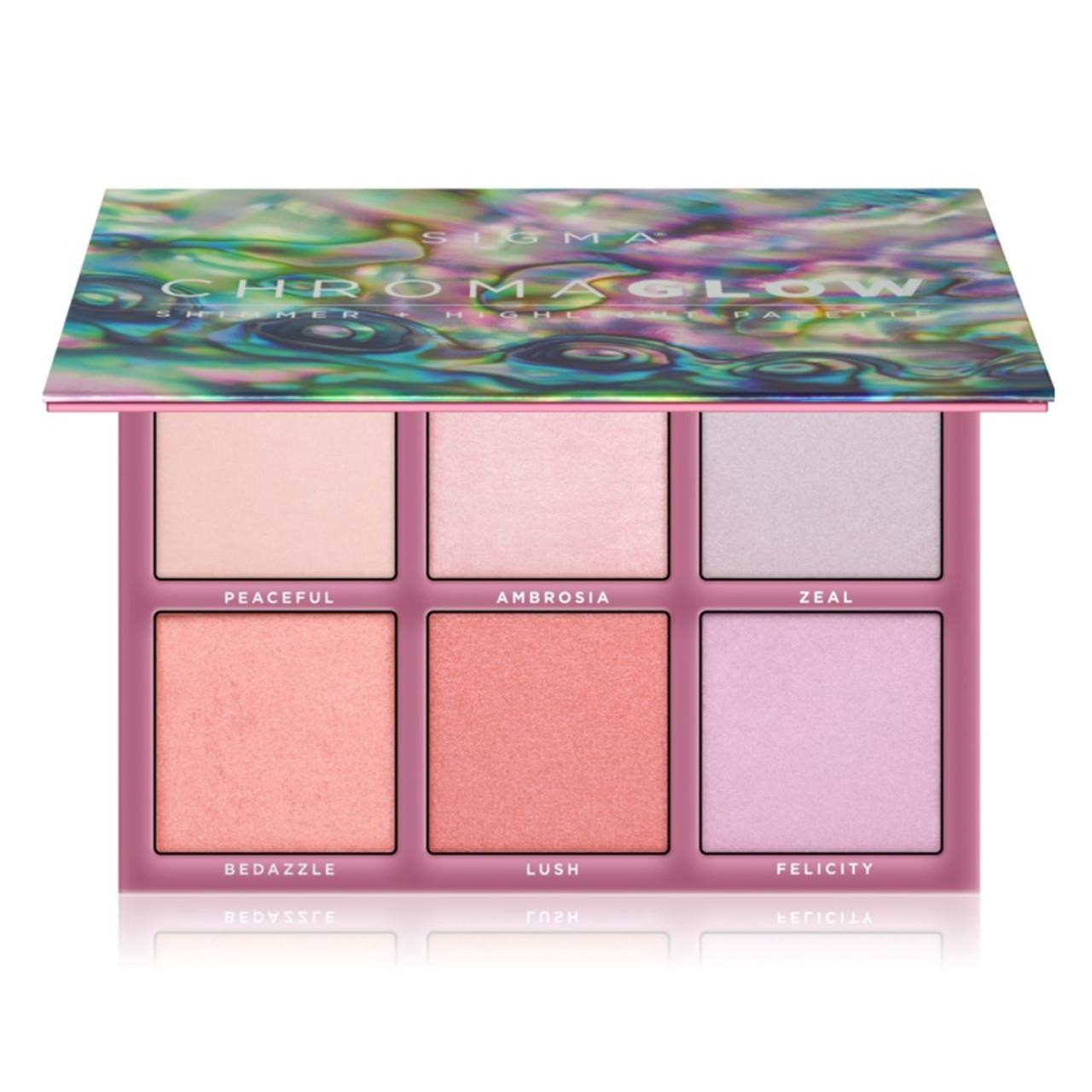 Sigma Beauty Chroma Glow Shimmer + Highlight Palette
