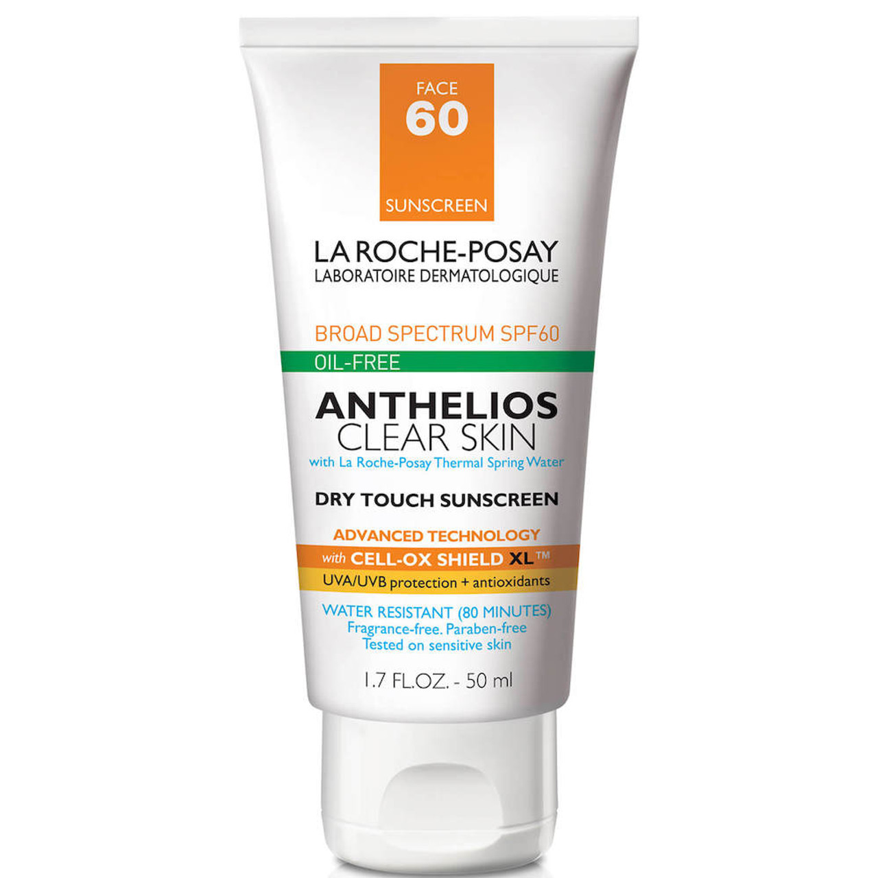 La Roche Posay Anthelios Clear Skin Dry Touch Sunscreen SPF 60 BeautifiedYou.com