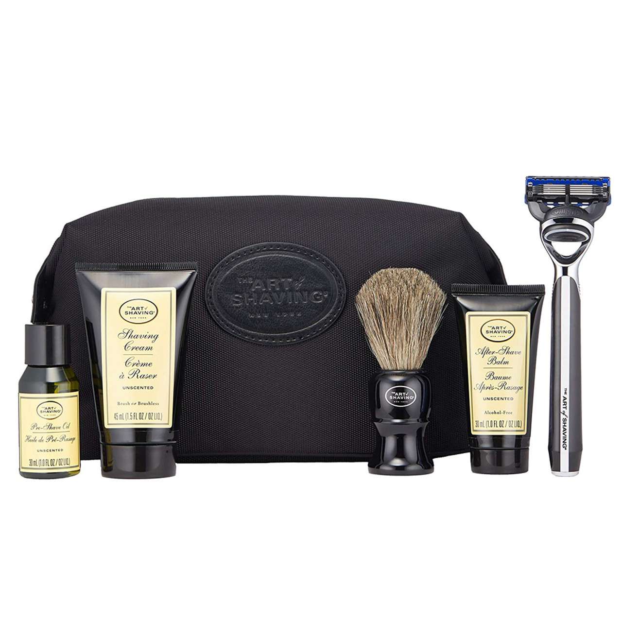 The Art of Shaving 5-Piece Travel Kit with Razor Unscented