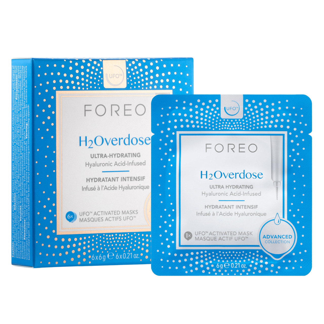 Foreo UFO Activated Masks - H2Overdose (6-Pk)