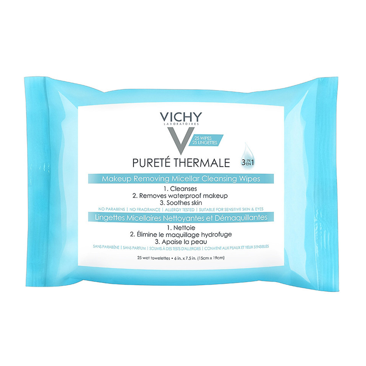Vichy Purete Thermale 3-In-1 Micellar Cleansing Wipes