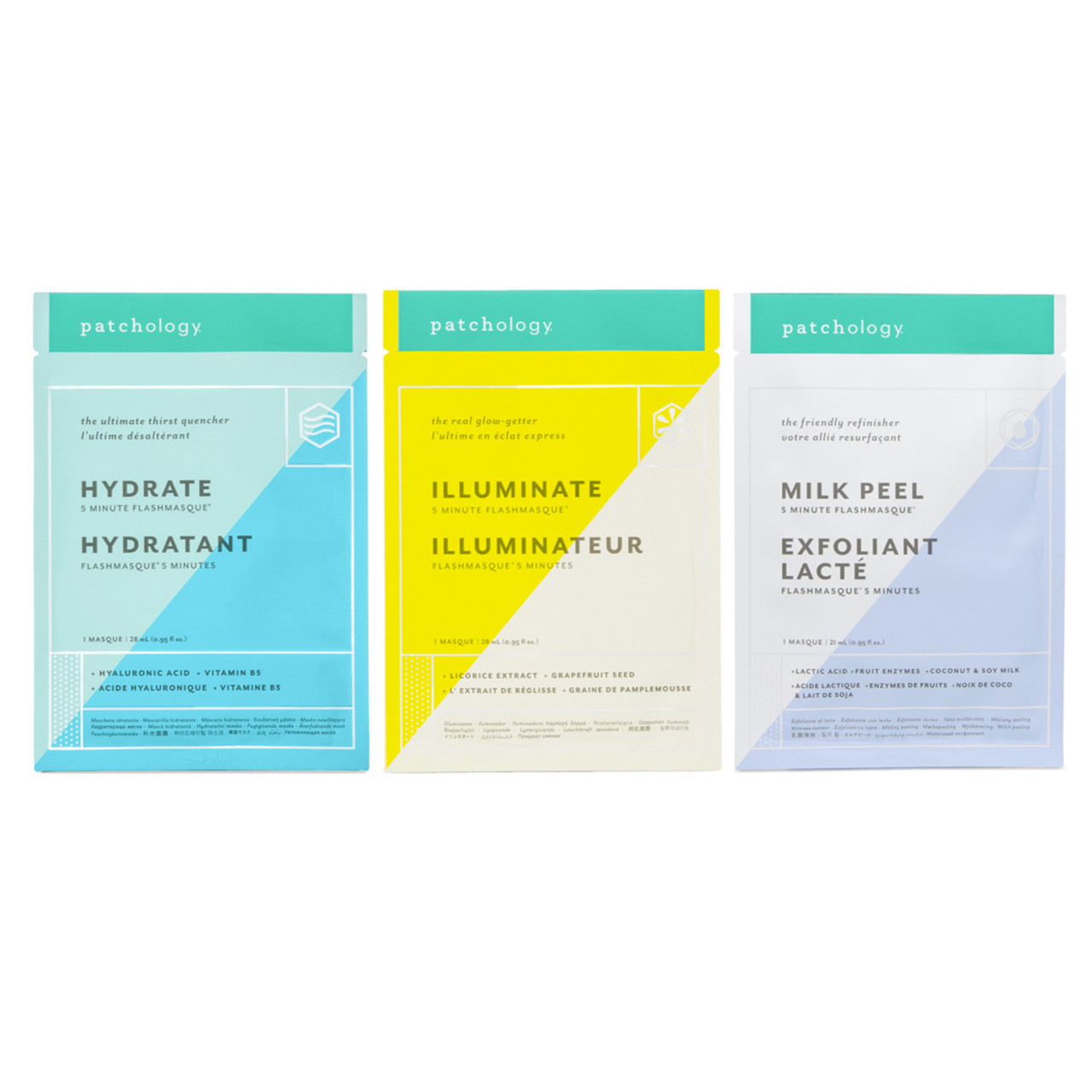 Patchology FlashMasque Sheet Mask: Perfect Weekend Trio