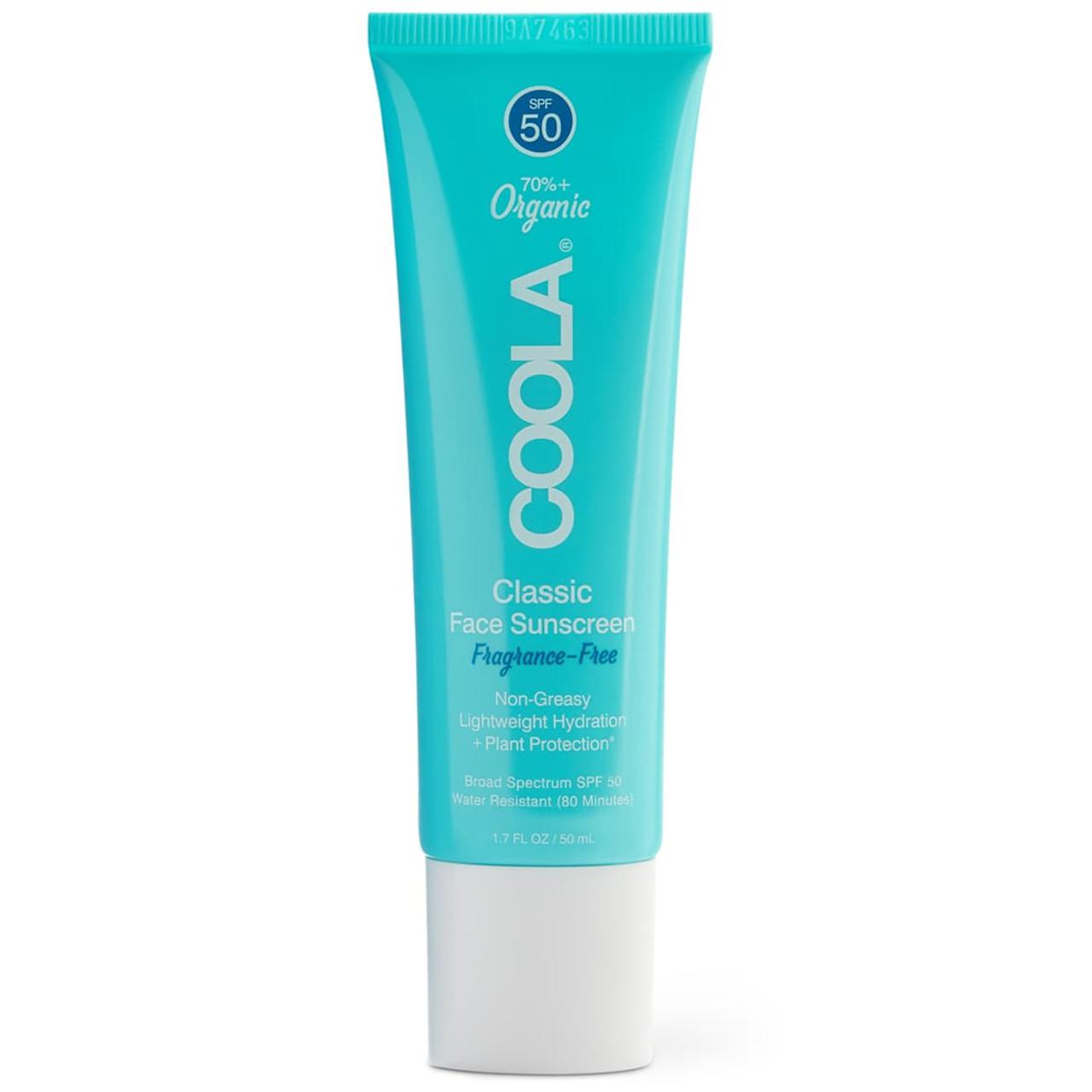 Coola Classic Face Organic Sunscreen SPF50 - Fragrance Free BeautifiedYou.com