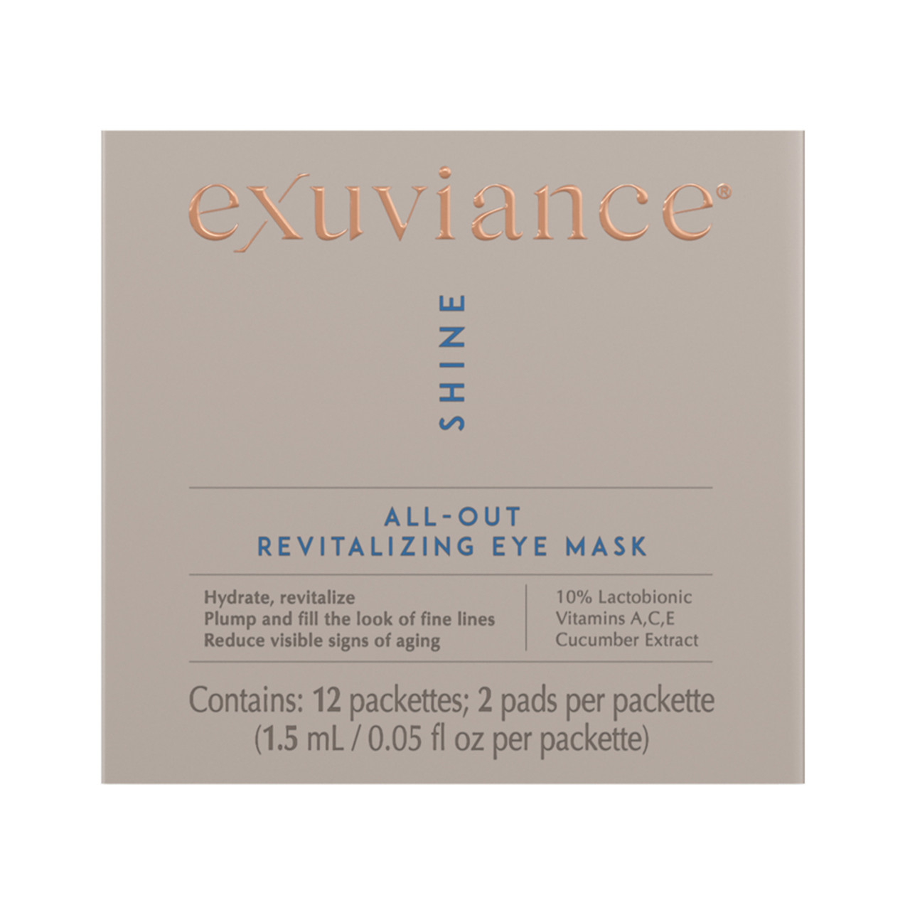 Exuviance All-Out Revitalizing Eye Mask BeautifiedYou.com