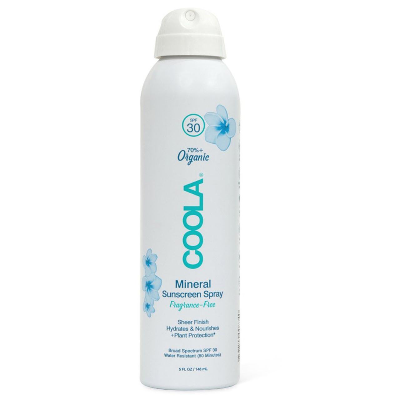 Coola Mineral Body Sunscreen Spray SPF30 - 5 oz Fragrance Free