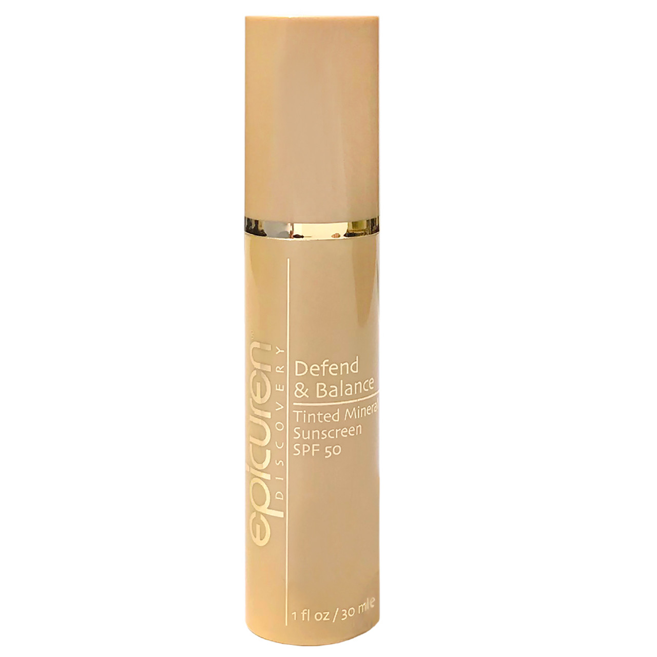 epicuren Discovery Defend and Balance Tinted Mineral Sunscreen SPF 50 BeautifiedYou.com