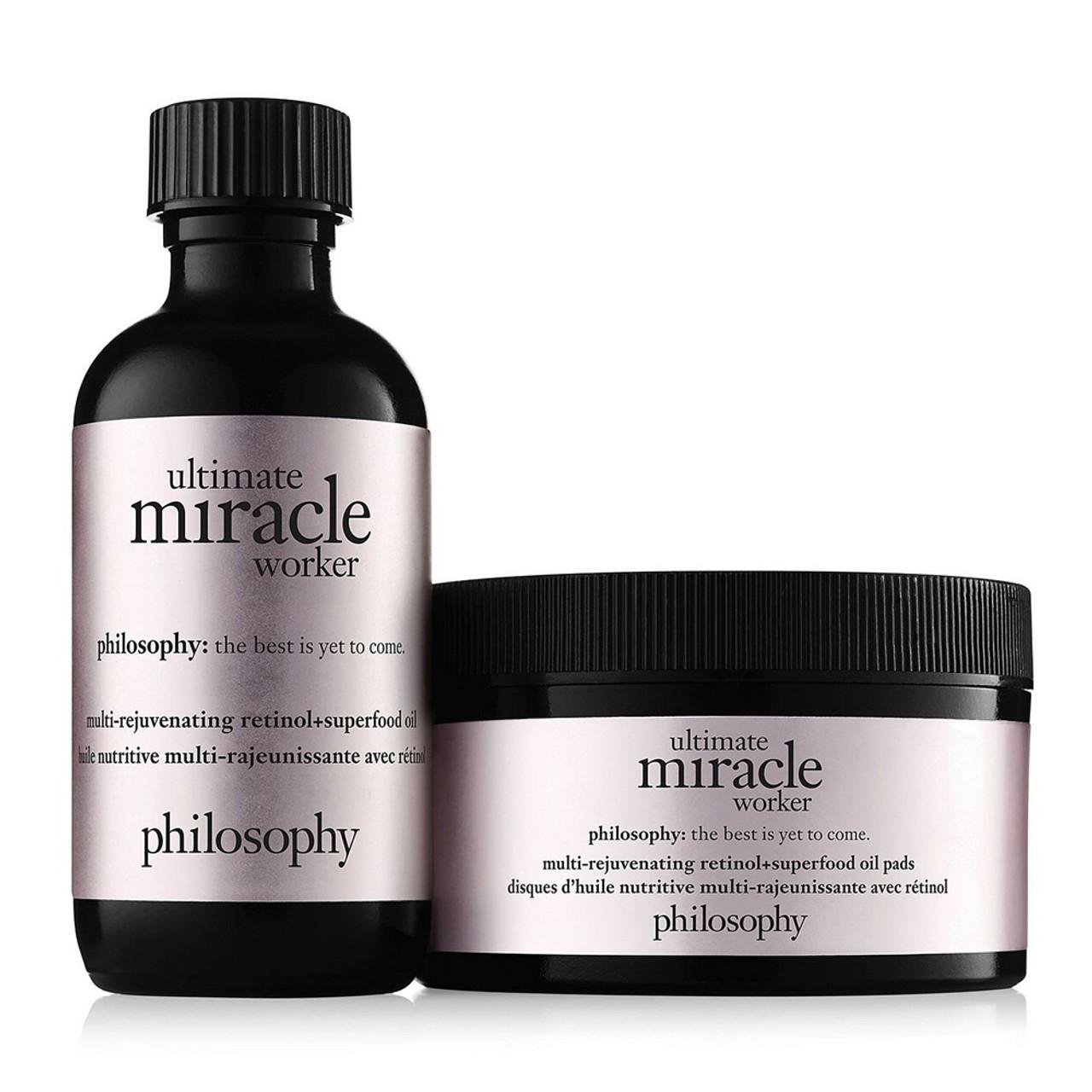 philosophy Ultimate Miracle Worker Multi-Rejuvenating Retinol+Superfood Oil Pads (60ct) BeautifiedYou.com
