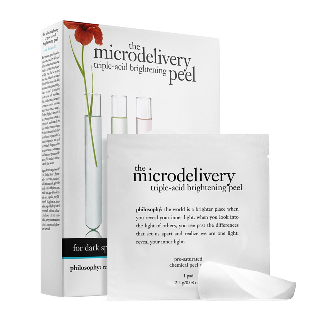 philosophy The Microdelivery Triple-Acid Brightening Peel (12-Pk) BeautifiedYou.com