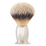The Art of Shaving Brush Engraved Silvertip Shaving Brush
