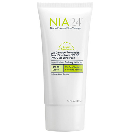 NIA24 Sun Damage Prevention Broad Spectrum SPF 30 UVA/UVB Sunscreen