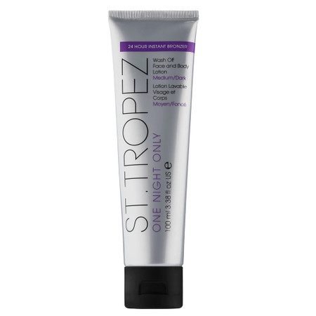 St Tropez One Night Only Wash-Off Face & Body Lotion - Med/Dark