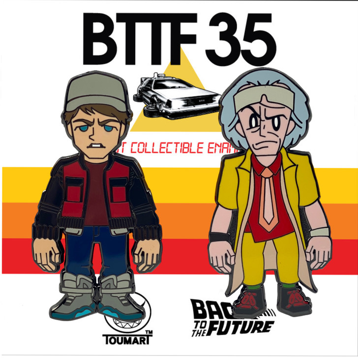 Back to The Future Part 2 Doc & Marty Pin set by Touma