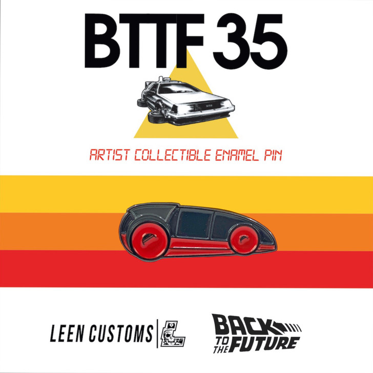 Back to The Future Red Car Pin by Leen Customs