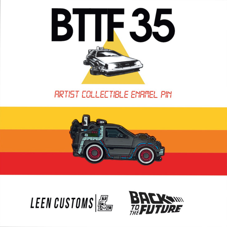 Back to The Future Part 3 Delorean Pin by Leen Customs