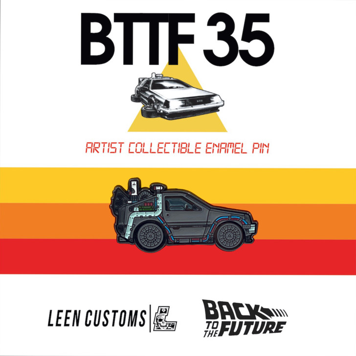 Back to The Future Part 2 Delorean Pin by Leen Customs