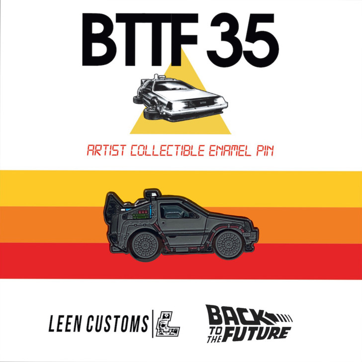 Back to The Future Part 1 Delorean Pin by Leen Customs