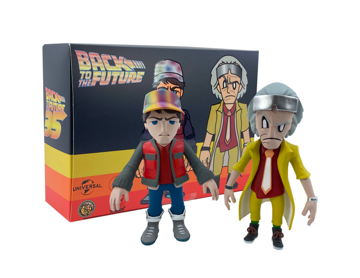 Back to the Future Doc and Marty Vinyl Figure set by Touma