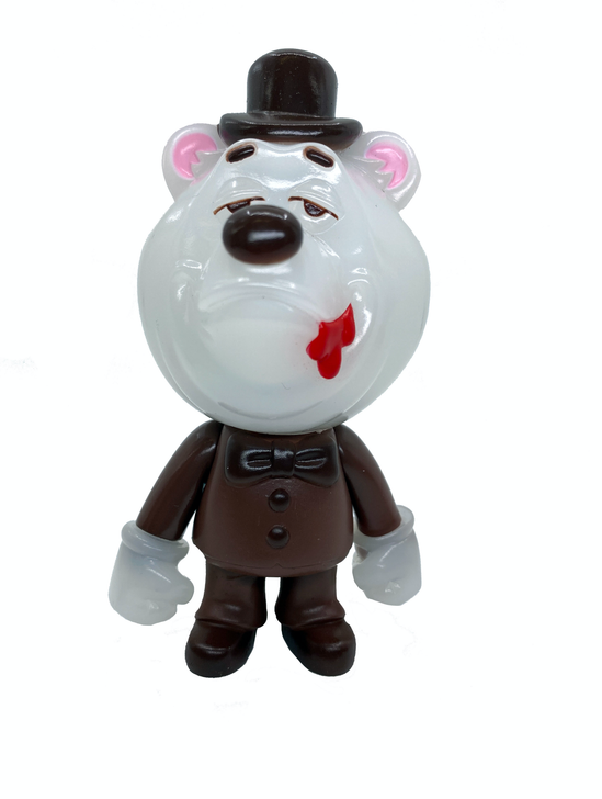 Swing Bear Sofubi by Swing Toys Chocolate Edition