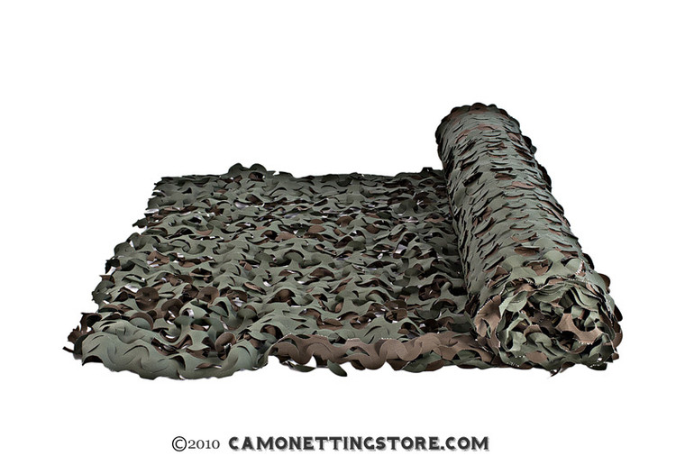 Woodland Camo Netting by the Foot