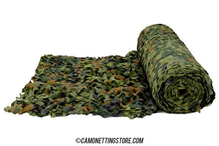 Flecktarn Camo Netting by the Foot