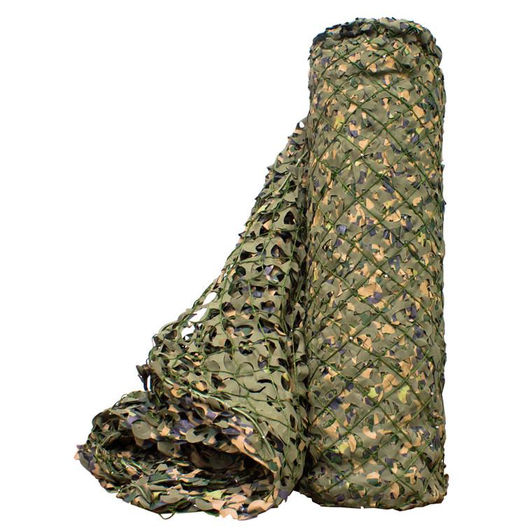 Woodland Digital Bulk Roll Camo Netting, Premium Military-Style