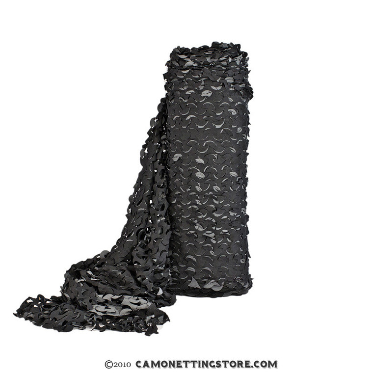 Black Camo Netting, Pro Fire Rated Ultra-Lite - Sized by the Foot