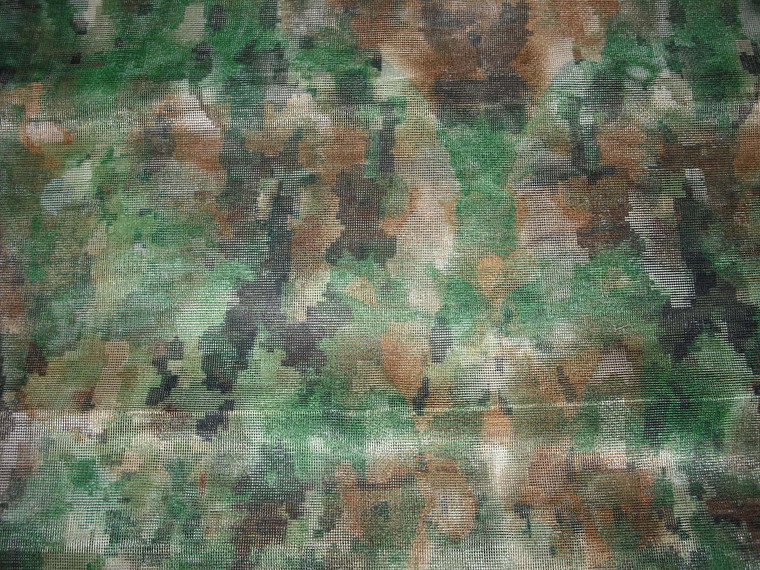 Woodland Camouflage Mesh, By CamoSystems.