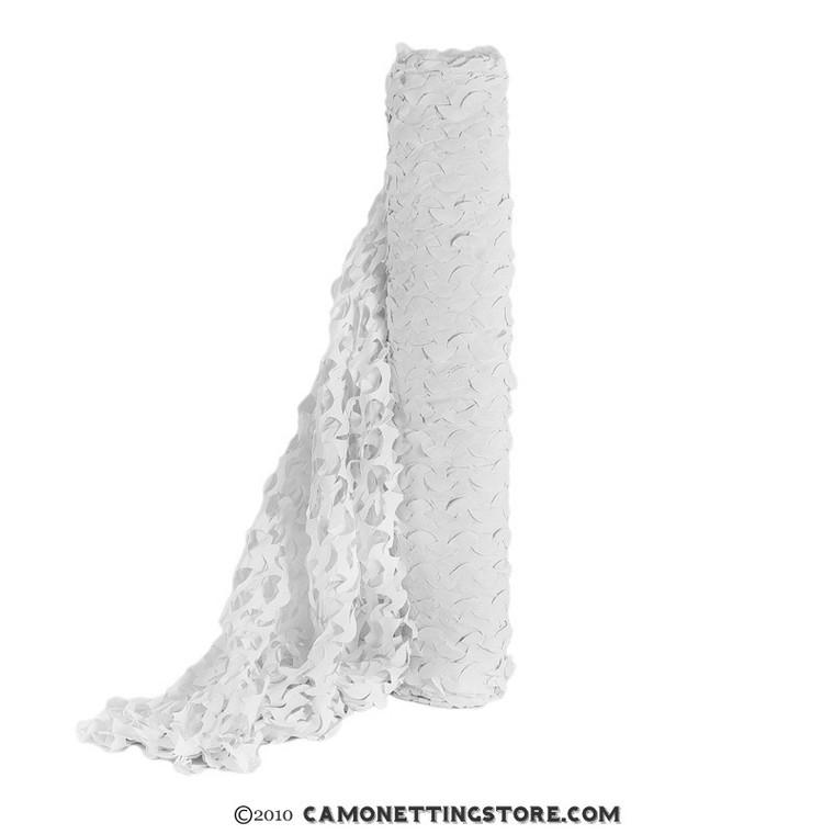 Arctic White Snow Camouflage Netting, Bulk Roll.