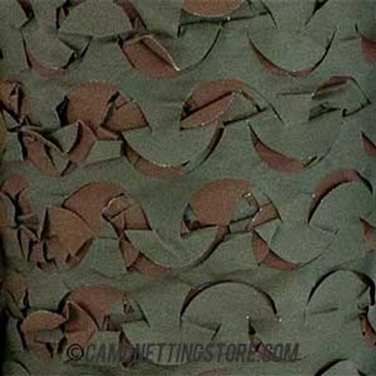 Woodland Camo Netting - Pattern Closeup